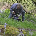 Ian Woodward setting up a camera angle for his latest film, The Red Rose