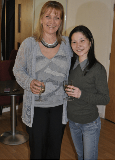 Above:  CORINNA CHUTE, Director of the Espinosa Dance Project company and Artistic Director of The Espinosa Chute Centre, with ballerina TOMOMI SATO, former principal dancer  of the Scottish Ballet