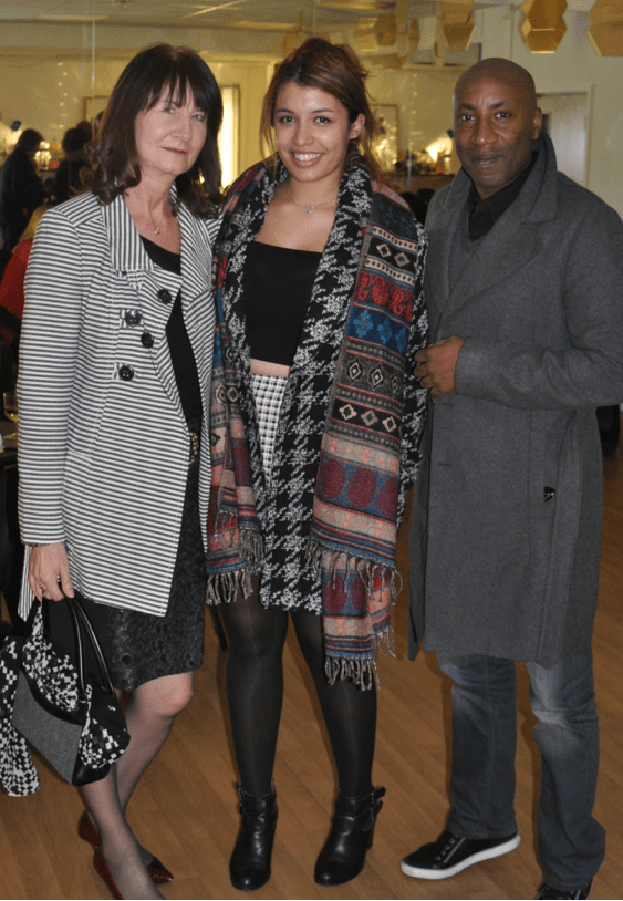 Above centre:  3rd Assistant Director JADE MONTOUTE with her mother Deborah and her uncle, Chris Ramsey